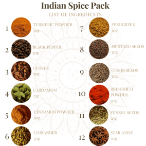 indian spices pack